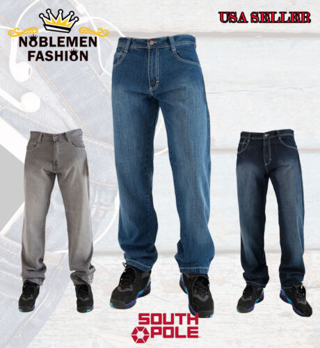 """SOUTHPOLE  MEN'S 4180 RELAXED FIT  BASIC DENIM JEANS SIZE 32""""~42"""""""