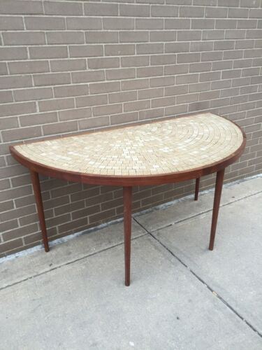 Marshall Studios HALF ROUND dining Height Table Tile Topped Danish Modern MARTZ