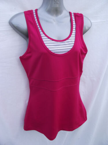 BNWT Womens Sz 12 Hot Pink Target Brand Yoga Athletic Singlet Top With Shelf Bra