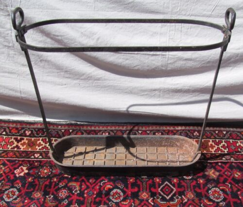 RARE VICTORIAN WROUGHT AND CAST IRON ANTIQUE UMBRELLA STAND
