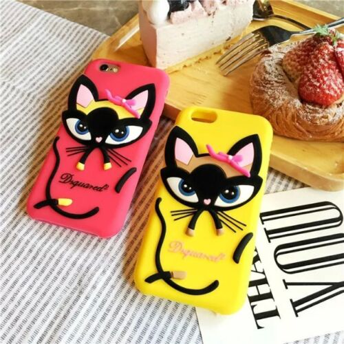 iPhone 6 6S Dsquared2 Kitty Cat Silicone Shockproof Soft Case Cover