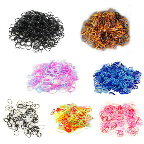 Small Mini Hair Elastics Mini Elastic Rubber Bands for Braids - Cornrows Plaits
