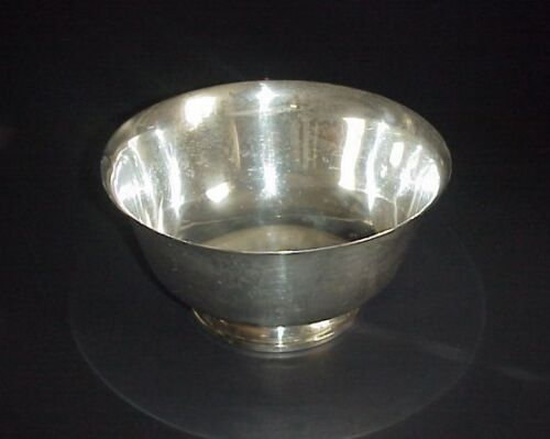"""Fisher Paul Revere Sterling Silver Reprodoction 1768 Bowl 8"""""""