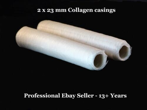 28.6 Mts Sausage Skins - Collagen Casings - 2 x 23 mm Plus 7 E- Books - *EXPRESS