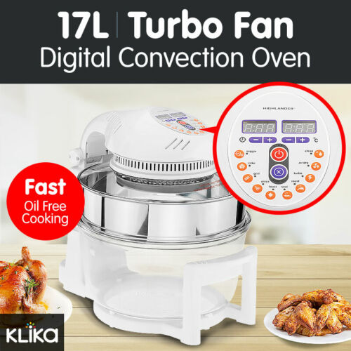 17L DIGITAL TURBO CONVECTION OVEN ELECTRIC COOKER AIR FRIER 1400W FAT FREE COOK