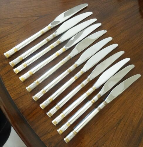 """Wallace Golden Aegean Weave Sterling Silver Dinner Knife 9-1/2"""" (12 Available)"""
