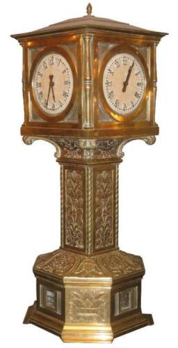 American Art Deco Bronze Train Station or Lobby Clock