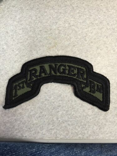 ARMY RANGER SCROLLS - 1st RANGER BATTALION SUBDUED PatchOther Militaria - 135