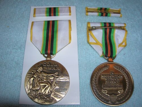 FULL SIZE COLD WAR VICTORY PIN BACK MEDAL with RIBBON BAR US ARMY USN USAF USMC Medals, Pins & Ribbons - 104024