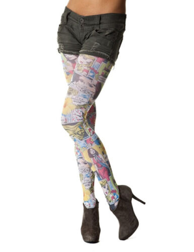 Comic Book In Colour Printed Tights
