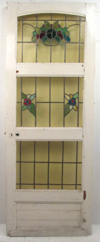 Vintage American Stained Glass Door Circa 1950s (8821)NJ