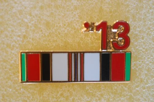 US USA '13 Afghanistan Ribbon Military Hat Lapel PinOther Militaria - 135