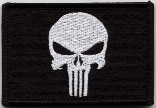 Tactical Punisher Skull Black Military Airsoft Patch Castigador Parche TácticoParches - 4725