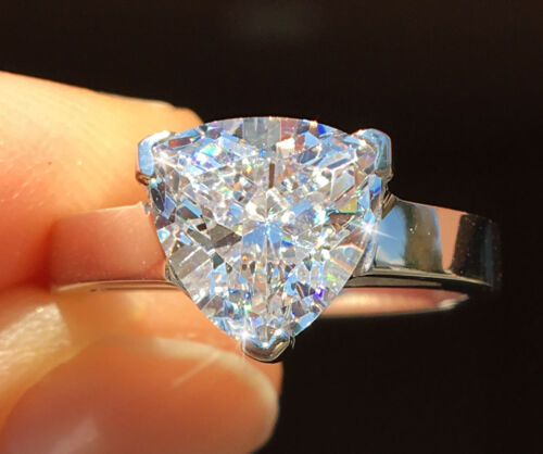 2 ct Trillion Vintage Extremely Brilliant Top Quality CZ Moissanite Simulant 5