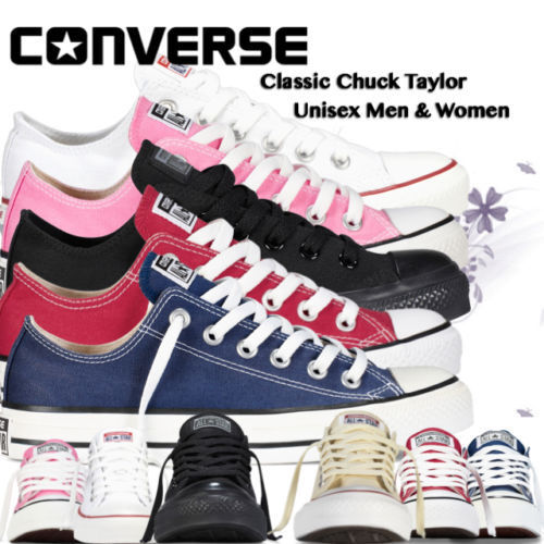 Converse Women  Men Unisex All Star Low Tops Chuck Taylor Trainers Shoes <br/> Get it By Xmas Limited Time offer ends Monday