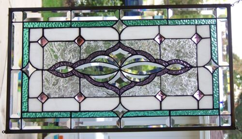 """Stained Glass Window Hanging 28 X 15 3/4"""""""