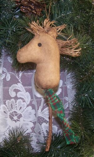 PRIMITIVE STICK HORSE ORNAMENT ORNIE MAILED PATTERN QUICK AND EASY CHRISTMAS