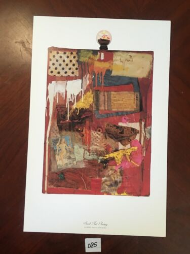 Small Red Painting by Robert Rauschenberg 11x17 Vintage Artwork Repro Print