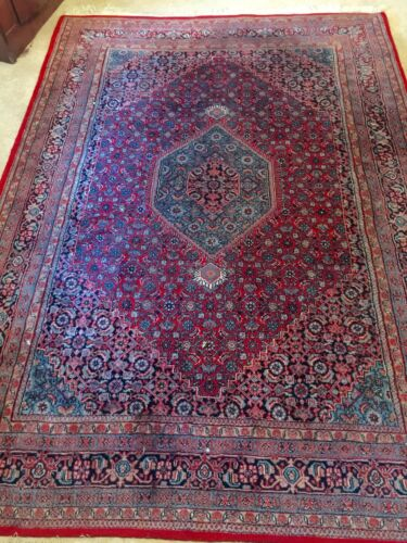 Hand Knotted Bijar Indian Style Rug 8ft X 6ft