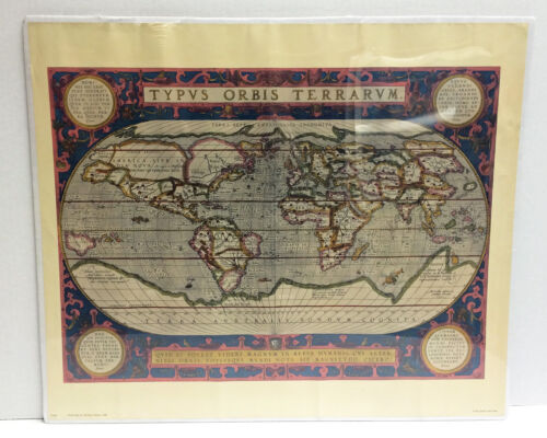 Reprint of Global Map by Abraham Ortelius 1590 Penn Prints New York