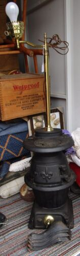King Stove and Range Co No 30B Pot Belly Stove made into a Lamp Easily Converted