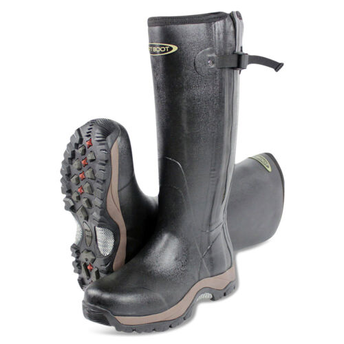 Dirt Boot® Neoprene Rubber Wellington Muck Boot Pro-Sport™ Hunt Zip Black <br/> Outdoor, Hunting, shooting, fishing, dog walking boots