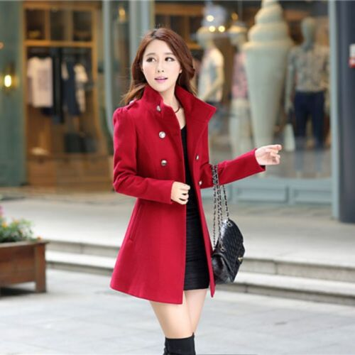 Fashion Women Winter Korean Long Coat Jacket Windbreaker Slim Outwear Parka