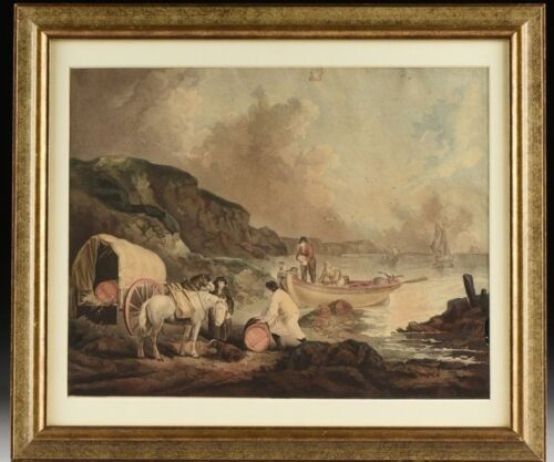 Framed 19th Century Engraving by JP Smith, 'The Smugglers'