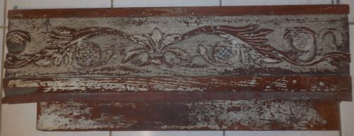 "ANTIQUE  13 3/4"" X 39"" CARVED ARCHITECTURAL PANEL, PEDIMENT"