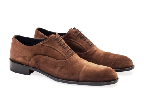Mens Suede  Oxford - Shoes. Made In Italy. Black Or Brown