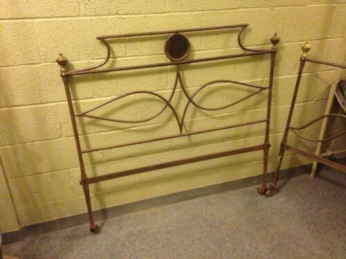Antique French Regency Steel and Brass Campaign Bed Napoleonic Day Bed 1790 1820