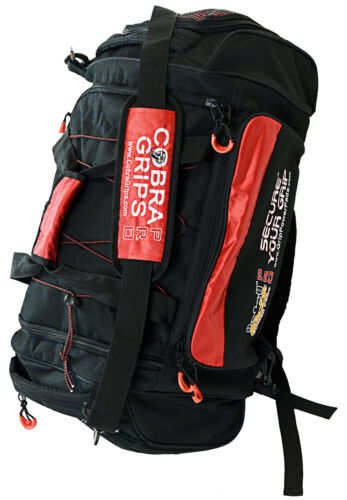 Grip Power Pads Sport Large Embroidered Gym Duffle Bag Wet Dry Storage BackPack
