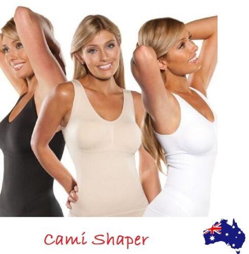 Cami Shaper Body Shape Wear Genie Bra Tummy Trimmer Tank Seamless Top Camishaper