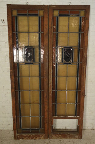 Vinatge American Stained Glass Window Panels (1869)NS