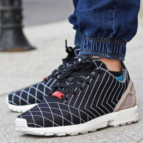 S75630 Men -Adidas-ZX FLUX SASHIKO Torsion -Running-Shoes -UK 8,5-9-9,5-10-10,5