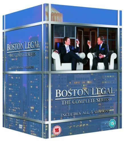"""BOSTON LEGAL COMPLETE SERIES COLLECTION 1-5 BOX SET 27 DISCS """"NEW&SEALED"""""""