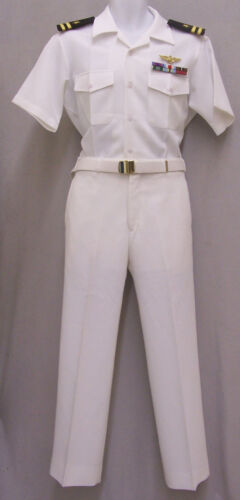 US Navy Pilot Officer  size SMALL Top Gun Ribbons Wings Uniform Costume