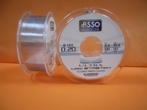 ASSO ULTRA LOW STRETCH 100 Metri - Monofilo Fluorocarbon Coated
