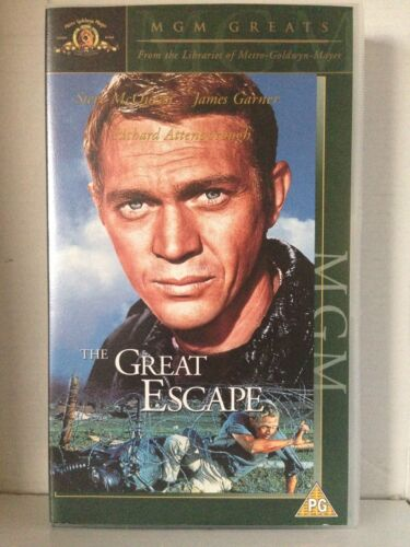 THE GREAT ESCAPE ~ STEVE McQUEEN ~ BRAND NEW & SEALED ~ VHS VIDEO