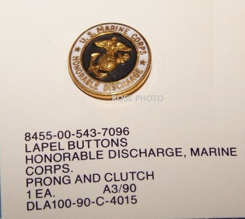 USMC United States Marine Corps Honorable Discharge HAT Lapel Jacket Pin ButtonMarine Corps - 66531