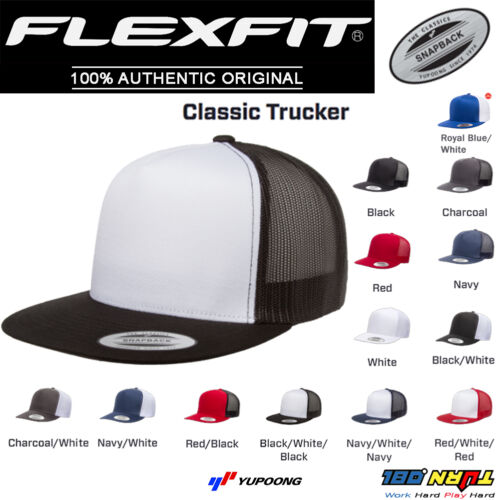 NEW FLEXFIT Classic Trucker Mesh Hat Blank 5 Panel 6006 6006T 6006W Yupoong