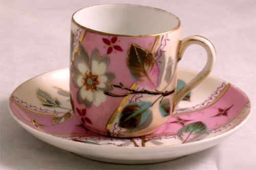 AESTHETIC MOVEMENT DEMI TASSE CUP & SAUCER