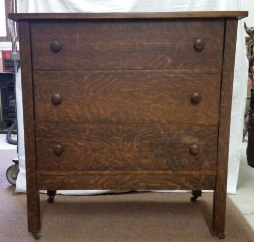BEST OFFER Antique early 20th century dresser with GRAINING finish 3 drawer