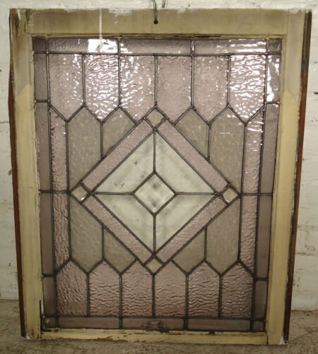 Vintage Antique Stained Glass Window (2033)NS