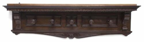 Renaissance Revival Style Carved Wall Hat Rack, 19th Century (1800s)