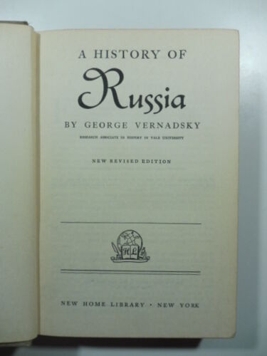 The history of Russia, Vernadsky G., New Home Library 1944