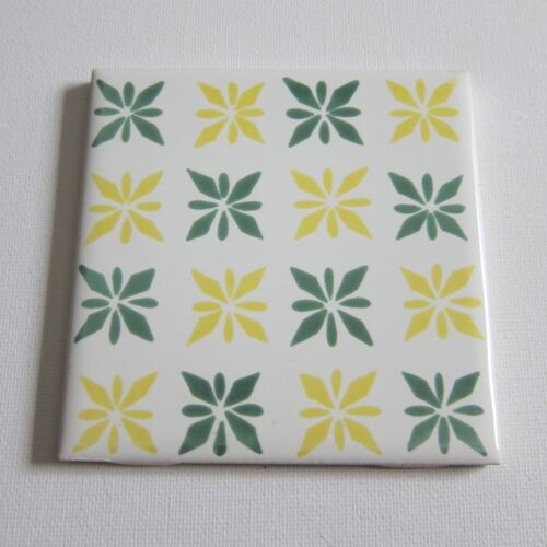 "Vintage 1960s 4"" x 4"" Wall Tile, 170 Sq Ft Available, Made in Italy"