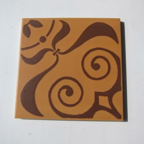 "Vintage 1960s 6"" x 6"" Brown Neoclassical Floor Tile, 99 sq ft available, ITALY"