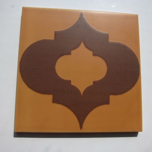 "Vintage 1960s 6"" x 6"" Brown Moroccan Floor Tile, 432 sq ft available, ITALY"