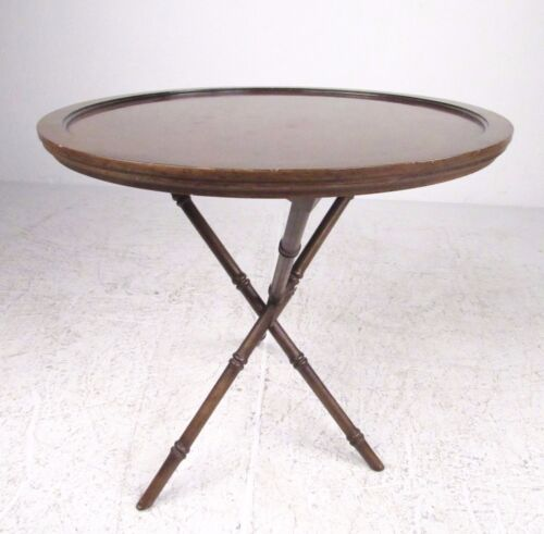 Contemporary Modern Faux Bamboo End Table (4849)NJ